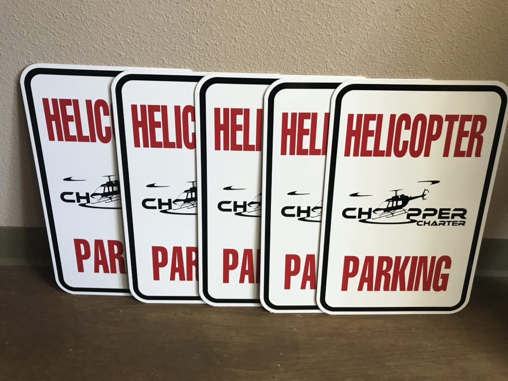 Helicopter Signs