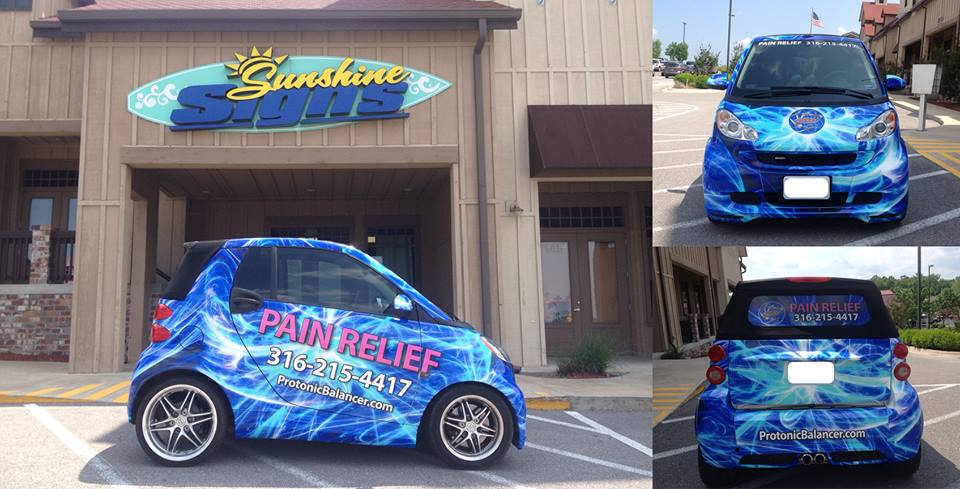 Pain Relief Smart Car Wrap
